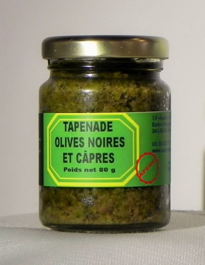 Tapenade Olives Noires et Câpres